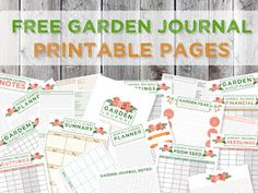 Green in Real Life: Garden Journaling and Planning: Free Journal Page Printables Daily Planner Printable, Free Printable, Custom Journals, Garden Route, Journal Template, Garden Journal, Landscape Plans, Garden Projects, Garden Ideas