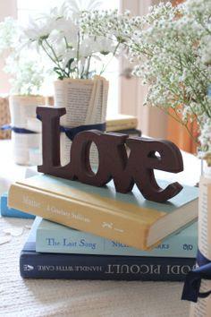 Book themed literary bridal shower