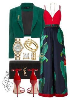 """Untitled #100"" by chichimia on Polyvore featuring Dalood, Rasario, F.R.S For Restless Sleepers, Yves Saint Laurent, Gucci, Givenchy and Rolex"