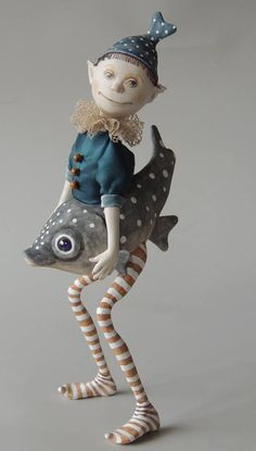 """Marlaine Verhelst: Example for the online class """"The Elf and his Fish"""""""