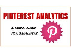 Pinterest Analytics Explained - A Video Guide for Beginners - http://www.howtogetmorefreewebsitetraffic.com/pinterest-analytics-explained-a-video-guide-for-beginners/