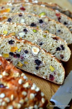I used granola in place of the muesli cereal, and I made my own fruit and nut mixture (almonds, sunflower seeds, peanuts, craisins, raisins) #healthy #muesli #bread
