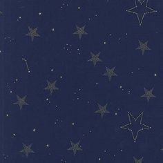 Magic Lucky Stars Navy METALLIC by Sarah Jane for Michael Miller - Gold Blue -Quilting Cotton Fabric - choose your cut Ciel Phantomhive, Ravenclaw, Whatever Forever, Alphonse Elric, Michael Miller Fabric, Star Wars, Lucky Star, Blue Aesthetic, Aesthetic Collage