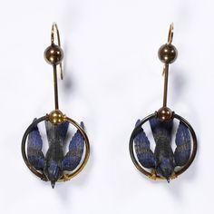 French earrings, 1875-ish.