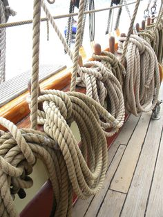 pinrail and line; the complexities of flying a 19th century ship, Pride of Baltimore II