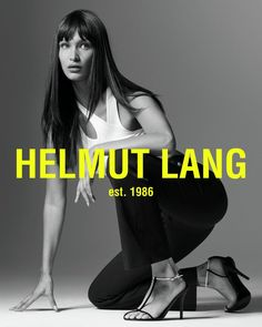 Bella Hadid Shows Off Her Moves in Helmut Lang Spring 2020 Campaign Bella Hadid Tumblr, Hannah Murray, Helmut Lang, Dior, Logos Retro, Campaign Fashion, Img Models, Glamour, Michael Kors Collection