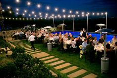 Outdoor Sting lighting, decorations and details {event planner // So Eventful Productions}