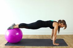 This stability ball workout will challenge your balance and force you to use your mind to focus and get through each exercise.