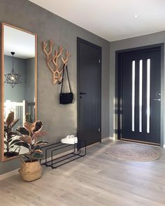 7882 Likes 102 Comments Malene Foss ( Entryway and Hallway Decorating Ideas Comments concrete Fos Foss husefjel Likes Malene Interior Design Living Room, Living Room Designs, Living Room Decor, Nordic Living Room, Interior Modern, Interior Door, Interior Architecture, Hallway Decorating, Entryway Decor