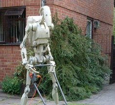 Picture of Papercraft 1:1 Scale Star Wars Battle Droid.