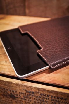 Bison Leather Ipad Case and Cover - Made in the USA Cover
