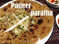 Usha Upchar » Paneer paratha recipe