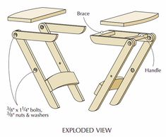 DIY - How to Make Perfect Picnic Folding Stool #diy #diyTutorials #DiyIdeas #Woodworking #DiyPicnicTable