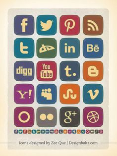 Free social icons collections