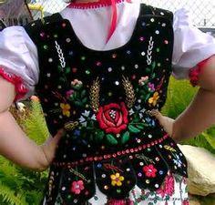 Krakow folk costume sample gorset krakowski