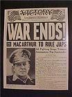 ..2 Sept 1945 Mac Arthur accepts Japan's Surrender