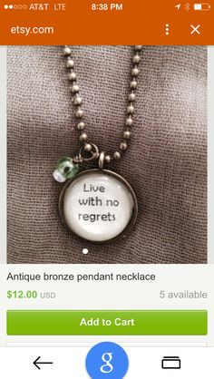 Love these necklaces available on Etsy!  Great price, too!
