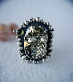 All that Glitters - Pyrite Sterling Silver Ring by Mercury Orchid
