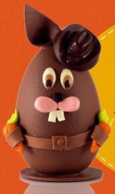 Billy Lakarott. Création en chocolat de 17 cm de haut → Chocolats Daniel Stoffel à Ribeauvillé et Haguenau.