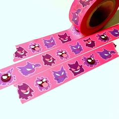 Masking Tape, Washi Tape, Ghost Type Pokemon, Design Tape, Repeating Patterns, Nerdy, Ghosts, Stationery, Gift Wrapping
