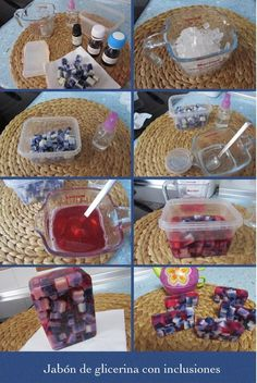 Tutorial para hacer jabon con inclusiones. Savon Soap, Green Soap, Soap Display, Homemade Soap Recipes, Body Soap, Soap Packaging, Homemade Skin Care, Diy Candles, Home Made Soap