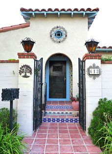 Spanish Design Home Using Mexican Tile And Wrought Iron
