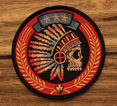 """""""Tribal Headdress"""" Embroidered Patch by strawcastle on Etsy, $7.00"""