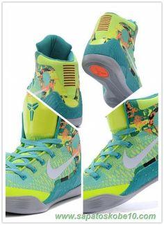 108315 Fluorescent Verde Nike Kobe 9 Elite Mulheres marca de basquete