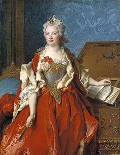 Nicolas de Largillière (1656–1746)    ;   English: Portrait of Marguerite de Sève, Wife of Barthélemy-Jean-Claude Pupil Português: Retrato de Marguerite de Sève, esposa de Barthélemy-Jean-Claude Pupil 1729; oil on canvas;  54.5 × 41.875 in (138.4 × 106.4 cm);  Timken Museum of Art ;