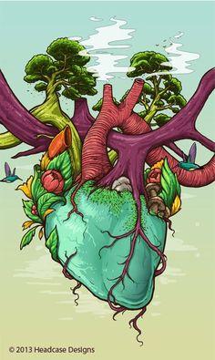 background anatomia corazon arbol