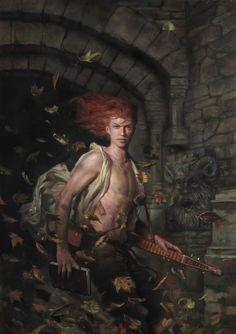 Para los seguidores de la saga de novelas de Patrick Rothfuss, una impresionante ilustración de Kvothe a cargo del artista Donato Giancola.