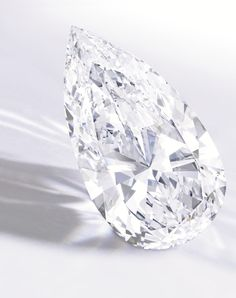 Exceptional Pear-Shaped Diamond -  The unmounted pear-shaped diamond weighing 74.79 carats. [Sold for 14.2 million USD]