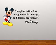 Full Colour Mickey Mouse Large Quote decal wall sticker boys girls bedroom playroom decal nursery graphic wall art nursery on Etsy, $34.66