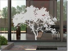 Milchglasfolie Savannenbaum,   Fensteraufkleber