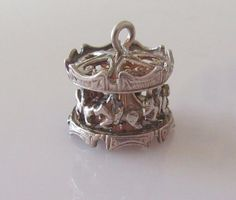 Silver Fairground Horse Carousel Charm Moves by TrueVintageCharms