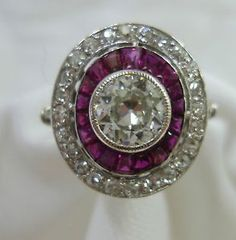 Exquisite-Antique-Art-Deco-Ruby-Diamond-Ring-In-Platinum
