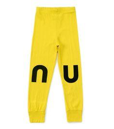 Kids Nununu Leggings - Dusty Yellow on Garmentory Yellow Leggings, Girls Leggings, Leggings Are Not Pants, Soft Pants, Kids Fashion, Fashion Outfits, Boy Or Girl, Kids Outfits, Monogram Letters