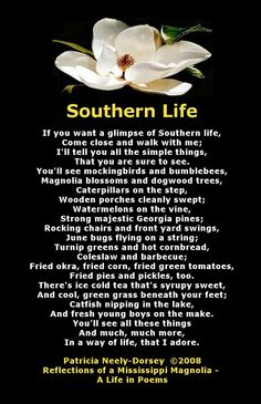 Southern Life - Poem by Patricia Neely-Dorsey - Reflections of a Mississippi Magnolia - A Life in Poems. Poem ARKANSAS , all the way, for this Southern Girl. Southern Heritage, Southern Pride, Southern Ladies, Southern Sayings, Southern Comfort, Simply Southern, Southern Charm, Southern Living, Southern Humor