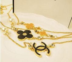 Succubus Fashion Classic Logo Clover Necklace Long Sweater Chain