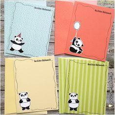 Glückwünsche mit Party-Pandas und Tuttifrutti Produkte aus der Sale-A-Bration von Stampin´Up!