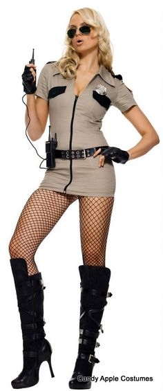 Leg Avenue Adult Sexy Sheriff Costume - Candy Apple Costumes - Bad-Ass Babe Costumes