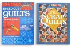 "2 BOOKS: ""Speed-Cut Quilts/1200 Quilt Blocks"" & ""Quick And Easy Scrap Quilts"" ► http://etsy.me/1TaJpSJ"