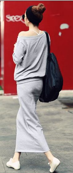 Make the grey black and I'll wear it...looks really comfy