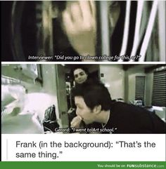 Oh no you didn't Frank!<<< Frankie , it's not the same !