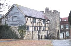 Tudor Merchants Hall next to Westgate.  Westgate is the place the Pilgrim Fathers left from on The Mayflower