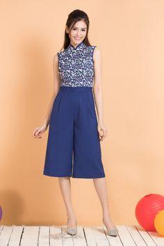 Joli Pretty – Modern Cheongsam/Qipao Singapore online shop Cheongsam Modern, Chinese Clothing, Mandarin Collar, Chinese Style, Lima, Singapore, Ideias Fashion, Jumpsuit, Ootd