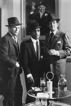 Sinatra, Davis, and Martin ... Irreplaceable! Three cool dudes - the core of the Rat Pack.