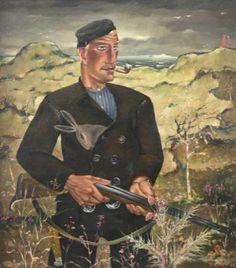 Reimond Kimpe 1885-1970. Jagerschilderij.