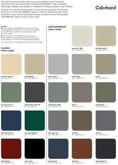 Seeking Knowledge About Roofing? - Jack's Roofing Tips and Guide House Exterior Color Schemes, Grey Exterior, House Paint Exterior, Exterior Paint Colors, Exterior Design, Fence Paint Colours, House Cladding, Facade House, Colourbond Colours