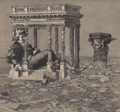 Album Napoletano_ Il Sogno dello Scultore (Neapolitan Album: the dream of the sculptor) by Martin Copertari Collages, Collage Artists, Digital Collage, Digital Art, Mad Movies, 19th Century, The Past, Mixed Media, Tumblr